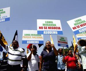 Santo Domingo: A protest in the Capotillo neighborhood