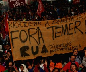 BRAZIL SAO PAULO POLITICS PROTEST