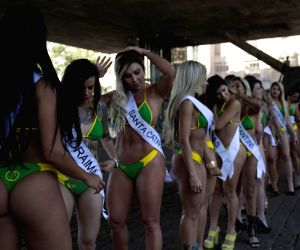 Sao Paulo: Participants of Miss BumBum in Brazil