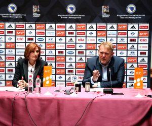 BOSNIA AND HERZEGOVINA-SARAJEVO-FOOTBALL-PRESS CONFERENCE