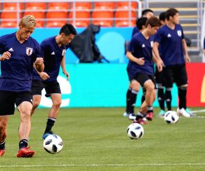 RUSSIA-SARANSK-2018 WORLD CUP-JAPAN-TRAINING