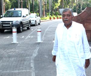 Satish Sharma at Parliament House, on September 04, 2013.