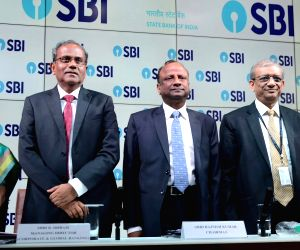SBI Chairman Rajnish Kumar during a press conference organised to announce SBI's fourth quarter results for the financial year 2017-18, in Mumbai on May 22, 2018.