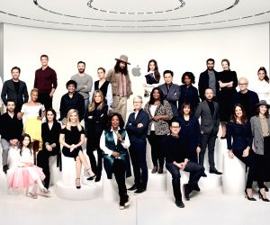 Seated (L to R):  Rob McElhenney, Brooklynn Prince, Michelle Dockery, Reese Witherspoon, Oprah Winfrey, J.J. Abrams, Jennifer Garner and Josh Gad. Standing (L to R):  Brian Grazer, Ron Cephas Jones, ...