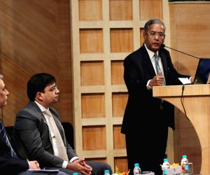 SEBI chairman addresses during an interactive session