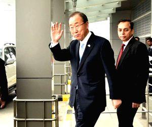 Sushma Swaraj meets Ban Ki-Moon