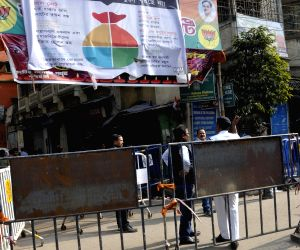 Security beef up outside BJP office