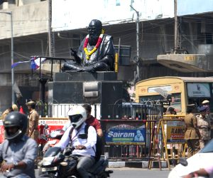 Security beefed up around Ramasamy's statue