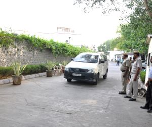 Security beefed up at Delhi Minister Satyendra Jain's residence where the CBI conducted raids in connection with alleged violation in the hiring of a creative team by the Public Works ...