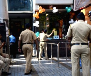 Security beefed up outside cinema hall
