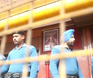 Security beefed up outside cinema halls