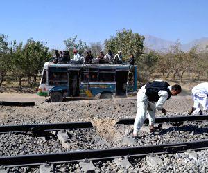 PAKISTAN MASTUNG TRAIN ATTACK BLAST SITE