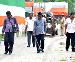 Security personnel sanitise Khanapara parade ground