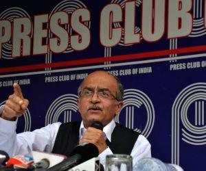 Prashant Bhushan, Arun Shourie hold press conference on Rafale verdict