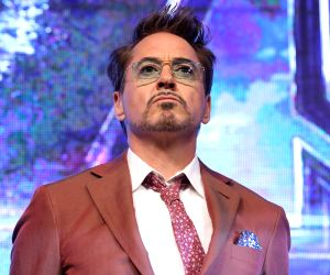 "Seoul: Hollywood star Robert Downey, Jr. poses for a photo during a press conference in Seoul on April 15, 2019, to promote the new movie ""Avengers: Endgame."" The movie will be released in South Korea on April 24. (Yonhap/IANS)"