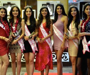 Femina Miss India North 2018 finalists at the inauguration of a jewellery store