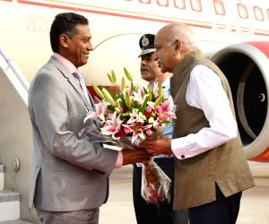 Seychelles President arrives in Delhi