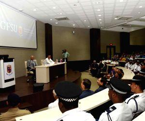 Seychelles President visits Gujarat Forensic Sciences University