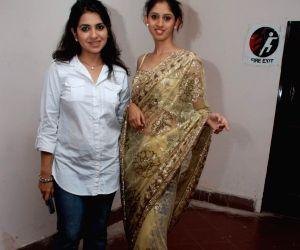 Shaina NC's drape show at Marwar show at WTC.