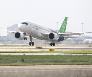 CHINA SHANGHAI C919 PLANE TEST