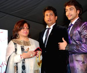 Shekhar Suman and Adhyayan Suman on ramp at the Luxurion show at Grand Hyatt.