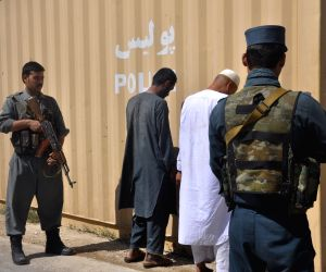 SHIBERGHAN, June 27, 2018 - Two suspected Taliban militants stand handcuffed after being captured in Shiberghan city, capital of Jawzjan province, north of Afghanistan, June 27, 2018. Afghan security ...