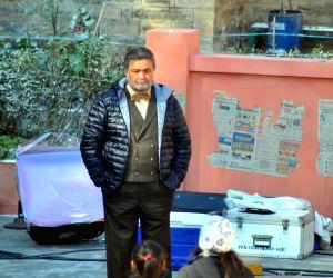 Rishi Kapoor during a shooting