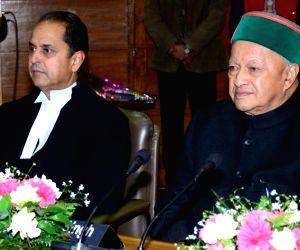 Himachal CM with Justice V. K. Sharma