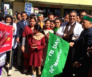 Himachal CM flags off a rally on World TB Day