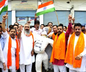 Shiv Sena demonstration against attack on Amarnath pilgrims
