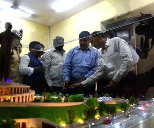 Shiv Sena MP Rahul Shewale reviews Babasaheb Ambedkar Memorial project