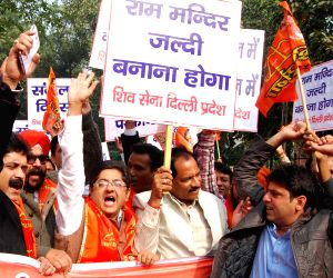 Shiv Sena demonstration
