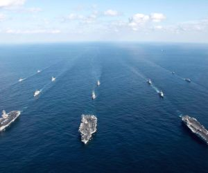 U.S. aircraft carriers in East Sea