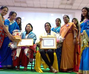 P.V Sindhu, Hyderabad Addl Commissioner felicitated on the eve of International Women's Day