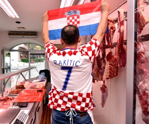 CROATIA SIBENIK SOCCER FIFA WORLD CUP FEVER