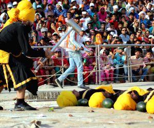 Sikh Nihangs during Vaisakhi celebrations