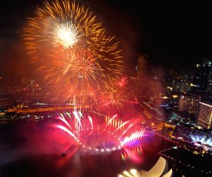 SINGAPORE-MARINA BAY-NEW YEAR-COUNT DOWN PARTY