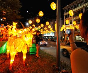 SINGAPORE-CHINATOWN-YEAR OF THE GOAT-LATERN DECORATIONS