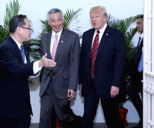 SINGAPORE TRUMP LEE HSIEN LOONG MEETING