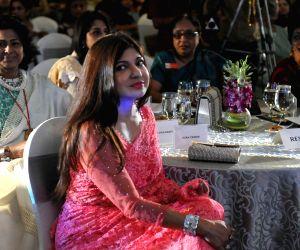 Alka Yagnik, Shaina NC during a programme