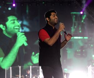Arijit Singh during a concert