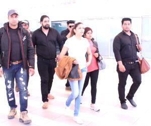 Sapna Chaudhary seen at airport