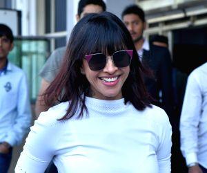 Manasi Scott arrives to attend Priyanka's wedding