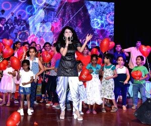 Palak Muchhal performs during a programme