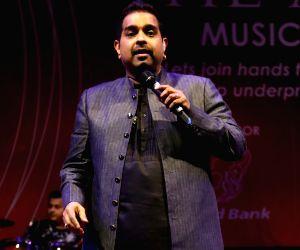 Shankar Mahadevan performs during a concert
