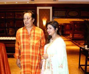 Bhupinder Singh, Mitali Singh during the launch of a music album
