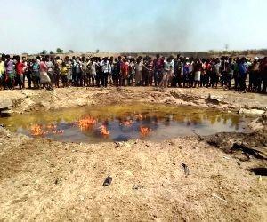 :Singhbhum: The site where an Indian Air Force (IAF) trainee aircraft crashed in Jharkhand's East Singhbhum district on March 20, 2018. The trainee pilot ejected safely and was taken to a ...