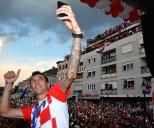 CROATIA-SLAVONSKI BROD-FIFA WORLD CUP-CELEBRATION