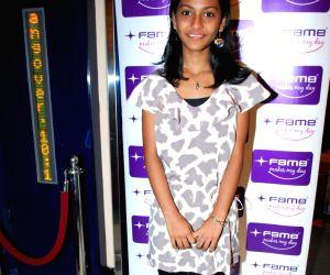 Slumdog star Tanvi at the premiere of movie Ice Age 2 in Mumbai.