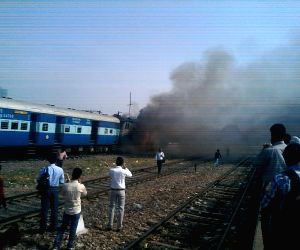 Rewari Express engine catches fire